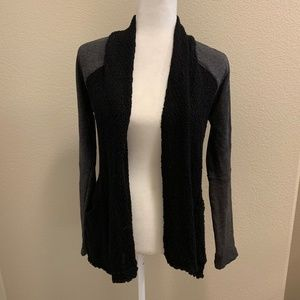 Lucky Lotus Open Front Draping Knit Cardigan